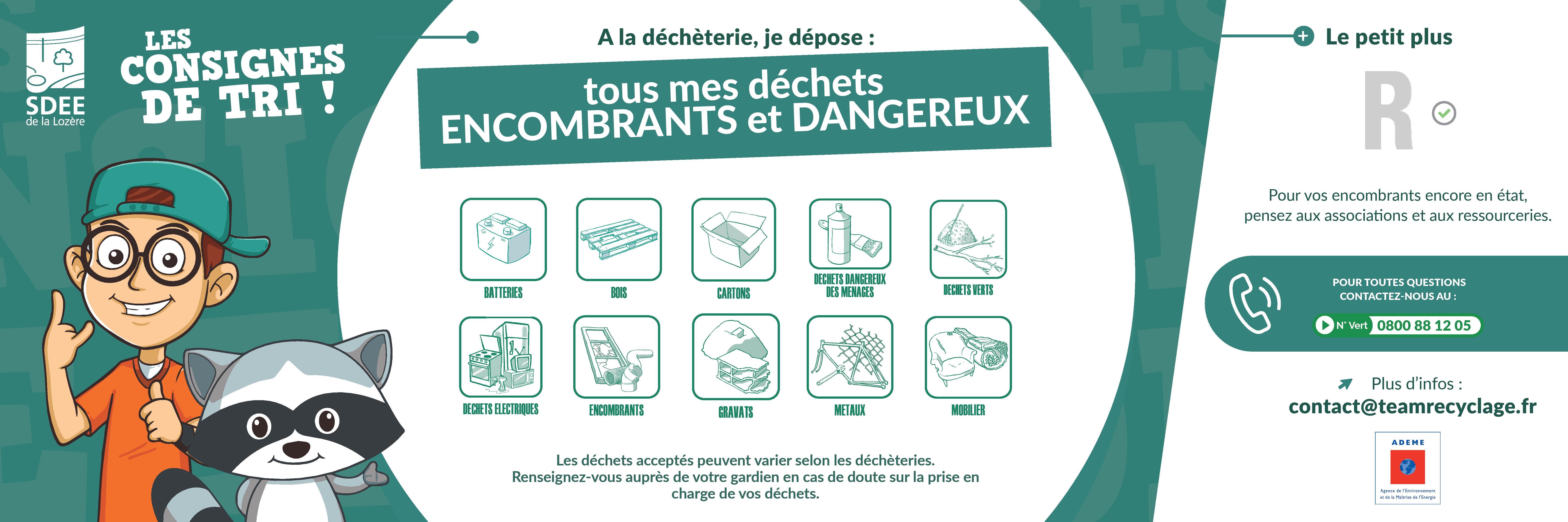 Les consignes de tri pour les déchets encombrants et dangereux