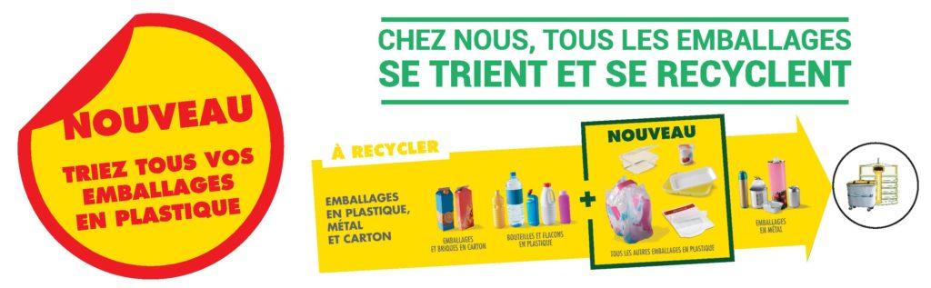 Extension des consignes de tri : emballages plastiques