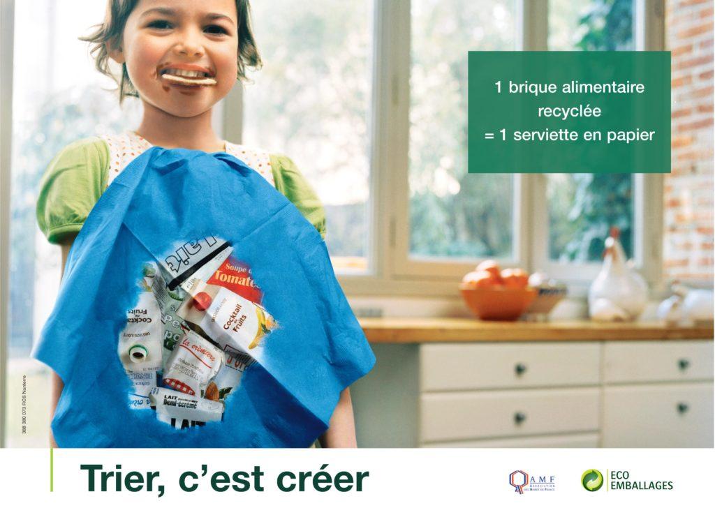 """Affiche """"Trier c'est créer"""" - Emballages"""