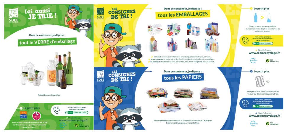 Mockup - Consignes de tri collecte sélective (verre, papiers, emballages)