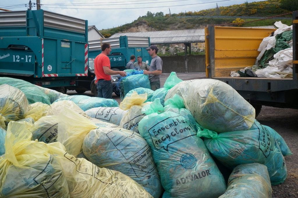 Collecte plastiques agricoles (source COPAGE)