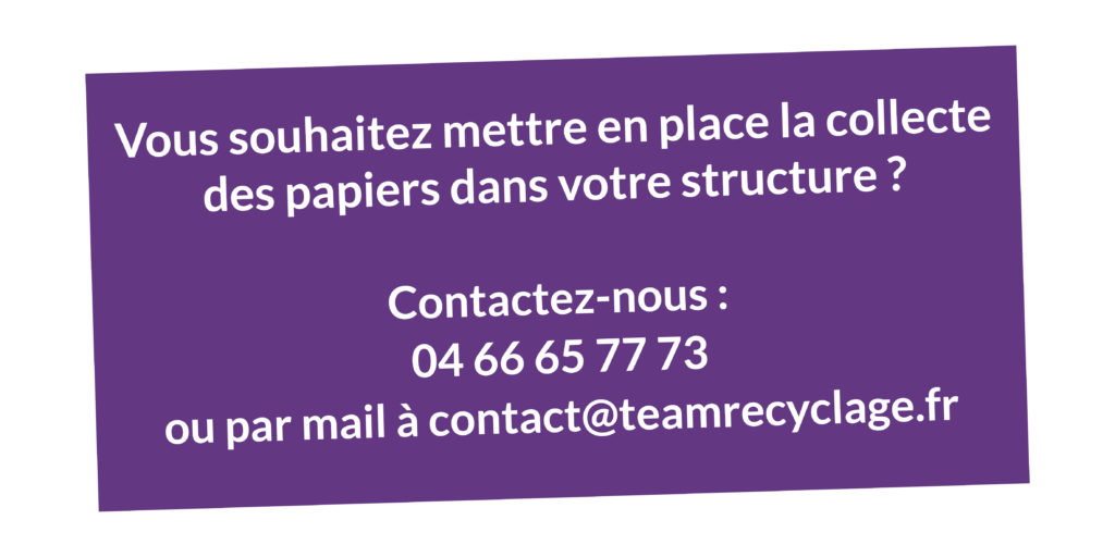Contact SDEE - Recyclage des papiers de bureau