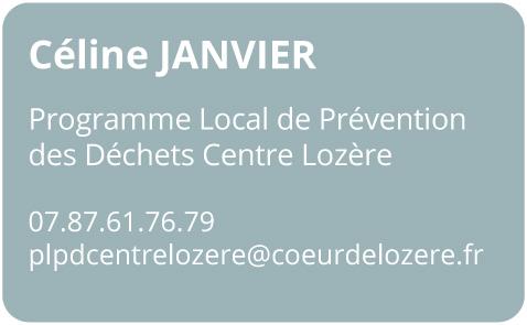 Coordonnées C.JANVIER : Programme Local de Prévention Centre Lozère