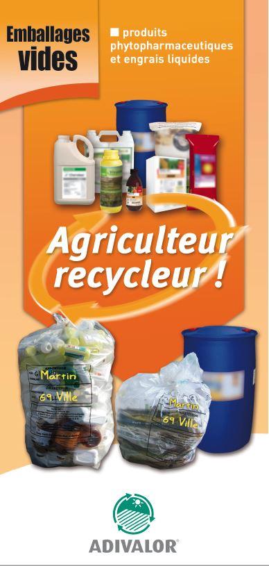 "Guide ""Emballages vides (produits phytopharmaceutiques)"" - ADIVALOR"
