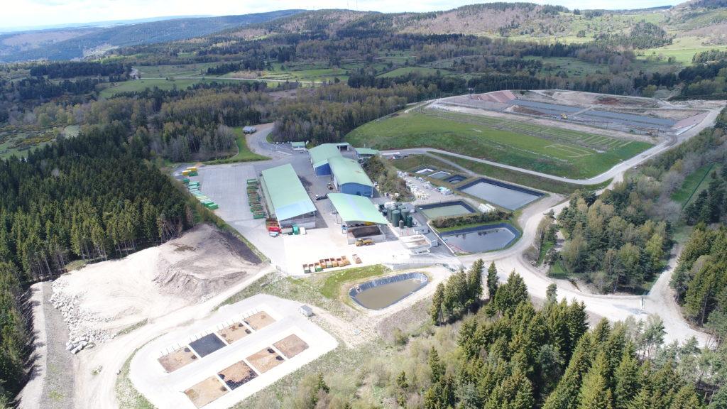 Vue aérienne Rédoundel - le Centre Départemental de Traitement des Déchets