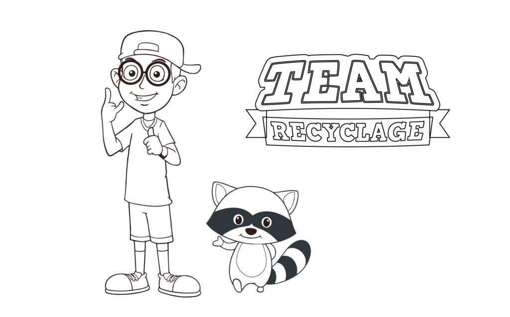 Coloriage Team Recyclage