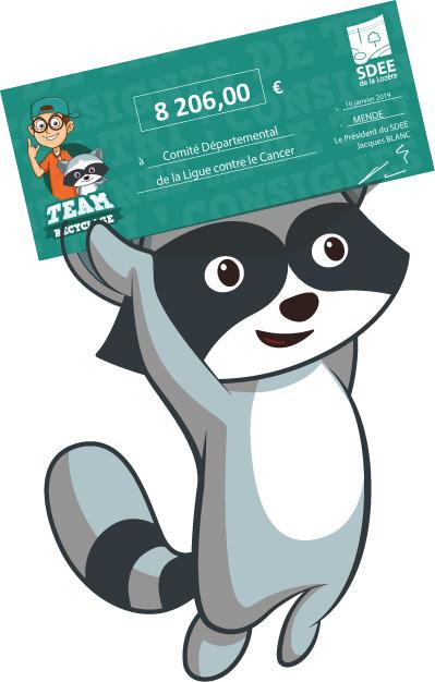 Team Recyclage : remise chèque
